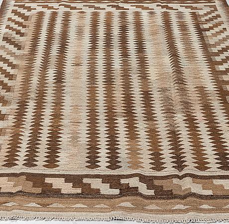 A carpet, kilim, ca 247 x 170 cm.