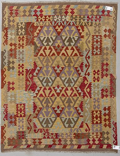A rug, kilim, ca 200 x 156 cm.