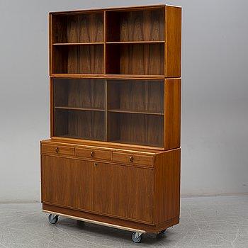 A walnut cabinet by Bertil Fridhagen, Bodafors.