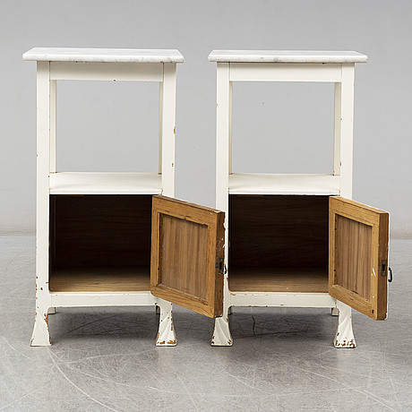 A pair art nouveau of bedside tables, early 20th century