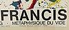 Sam francis, colour lithographic poster