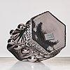 "Hanna hansdotter, a ""clam print"" glass sculpture, the glass factory, boda glasbruk, sweden 2018."