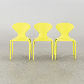"""3 """"SUPERNATURAL"""" CHAIRS BY ROSS LOVEGROVE, Moroso, Italy."""