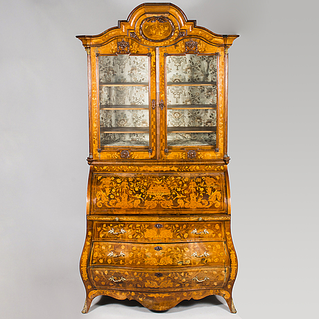 A late 18th century dutch writing and bookcase.