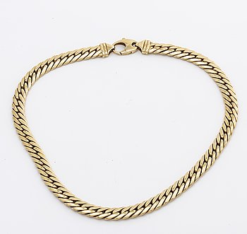 NECKLACE 18K gold curb link, 51 g.