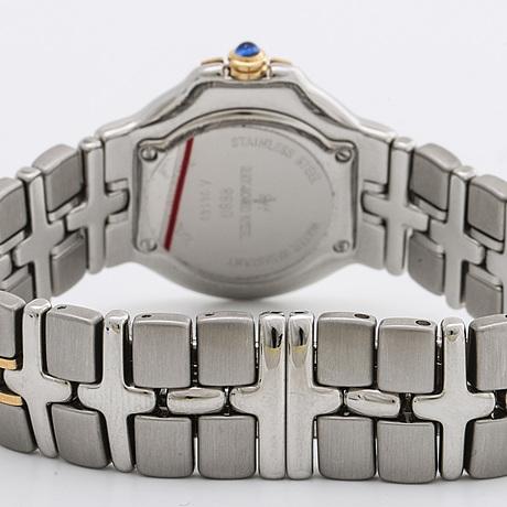 "Raymond weil damarmbandsur ""parsifal"" stål och guld, 28 mm, quartz, datum"