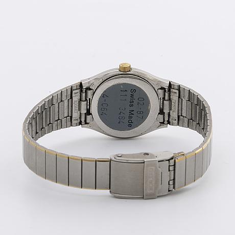 Rado damarmbandsur, stål och guld, 21 mm, quartz, datum