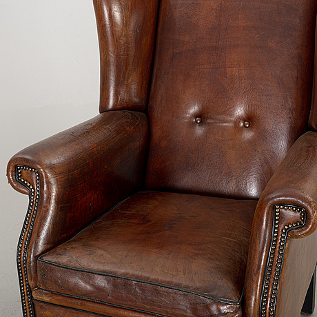 A leather armchair, late 20th century