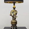A pair of table lamps. deknudt, belgium