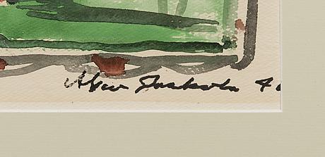 Alpo jaakola, watercolour, signed