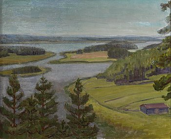 UUNO ALANKO, oil on canvas, signed and dated 1948.
