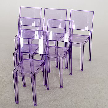 "A SET OF 6 PHILIPPE STARCK ""LA MARIE"" CHAIRS BY KARTELL."
