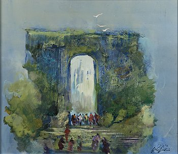 OLLI JOKI, oil on canvas, signed and dated.