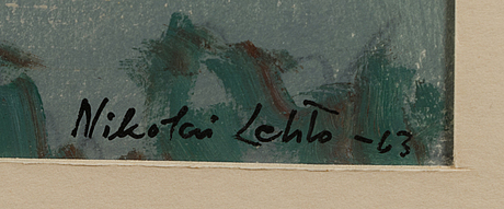 Nikolai lehto, mixed media, signed and dated  63