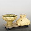 A pair late 20th century of paste garden urns,