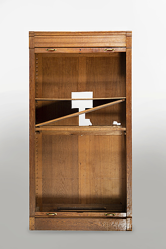 A mid 20th century oak archive cabinet
