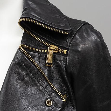 Dsquared leather biker jacket