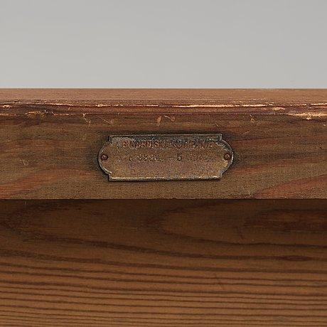 """Axel einar hjorth, a pair of stained pine """"sandhamn"""" lounge chairs, nordiska kompaniet, sweden 1929."""