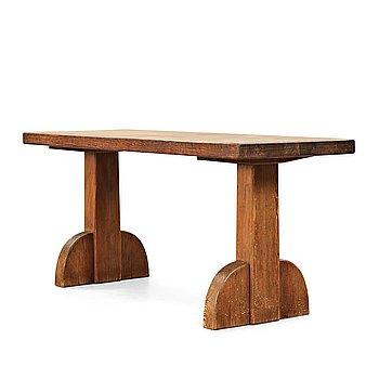 """251. Axel Einar Hjorth, a stained pine """"Sandhamn"""" table, Nordiska Kompaniet, Sweden 1929."""