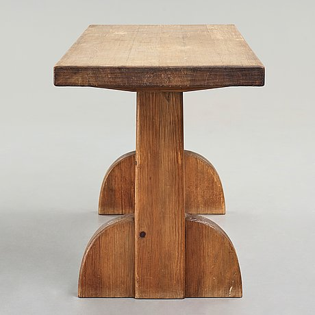 "Axel einar hjorth, a stained pine ""sandhamn"" table, nordiska kompaniet, sweden 1929."