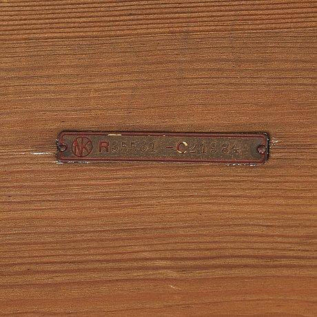 """Axel einar hjorth, a stained pine """"sandhamn"""" bench, nordiska kompaniet, 1931."""
