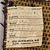 Marjatta metsovaara, a'blue shell' 1960s ryarug for finnrya finland