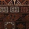 An antique turkmen ensi, around 212 x 160 cm