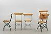 5 similar garden chairs