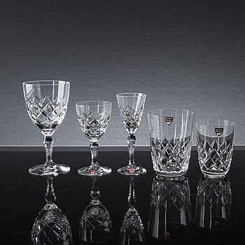 GUNNAR CYRÉN, 'Karolina' glass service, from Orrefors (54 pieces).