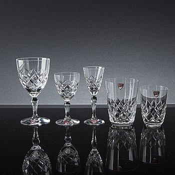 "GUNNAR CYRÉN, glasservis, 54 delar, ""Karolina"", Orrefors."