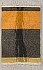 Lea eskola, a finnish long pile ryijy rug the 'penguin'. circa 185x127 cm