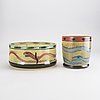 Ulrica hydman vallien,  vase and bowl. kosta boda, signed