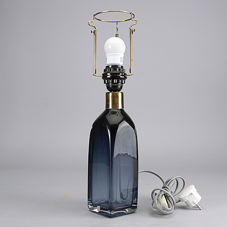 Carl fagerlund, a glass table lamp, orrefors 1960´s