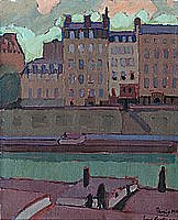Eero snellman, oil on canvas, signed and dated paris 1913