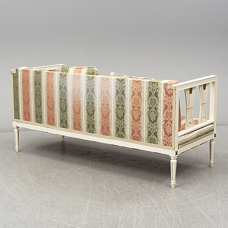 An early 20th century gustavian style sofa