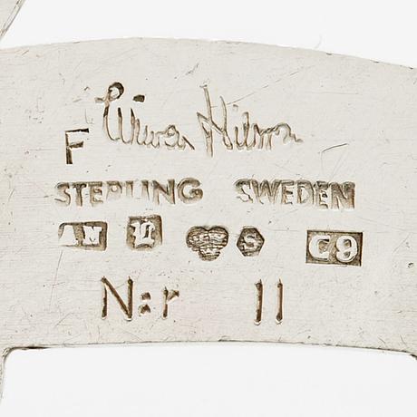 Wiwen nilsson brooch n:r 11, sterling silver, lund 1953