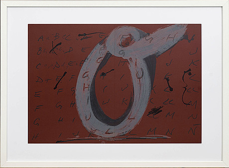 Antoni tÀpies, colour lithographe, unsigned, from derrière le miroir nr 200 1972