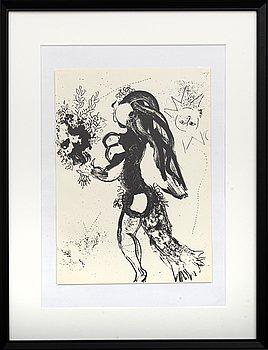MARC CHAGALL, litografi, ur Chagall Lithographe I 1960.