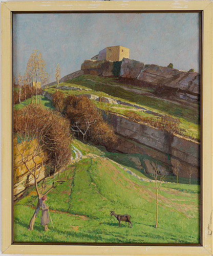 Watercolour, signed and dated 1928