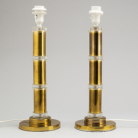 A pair of 1970's table lamps