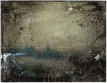 MAX MIKAEL BOOK, mixed media on panel, signed, numbered 1/25 and dated 1997 on verso.