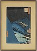 A japanese woodcut print after hiroshige. early 20th century