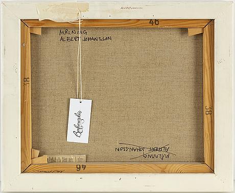 Albert johansson, oil on canvas, signed