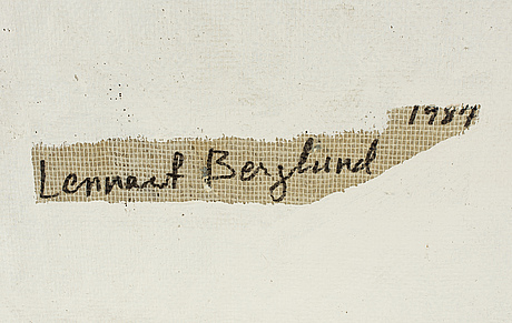 Lennart berglund, relief paper and oil, signed and dated 1987 on verso