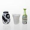 Kosta boda, glass, 5 pieces, kosta boda sweden, late 20th century