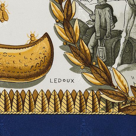 Scarf, silk, 'napoleon', hermès