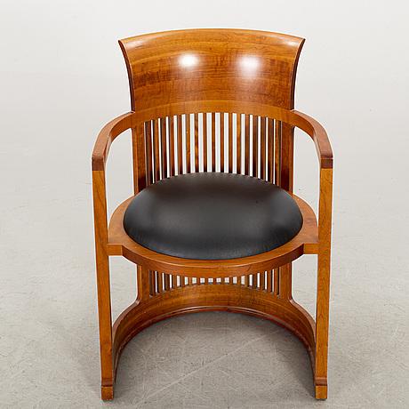 "Frank lloyd wright, ""barrel chair"" model no 606, cassina 1986"
