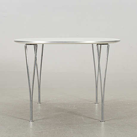 "A bruno mathsson & piet hein ""superellips"" table, fritz hansen, denmark 2007"