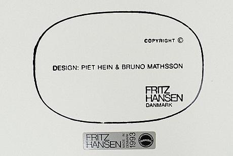 """A bruno mathsson & piet hein """"supercirkel"""" table by fritz hansen, denmark"""
