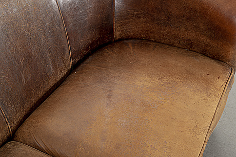 A leather sofa, end of 20th century